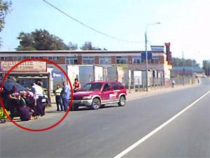 Автомобиль отдавил ногу пешеходу