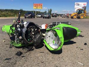 Пострадавший в аварии у Горетовки пассажир мотоцикла умер