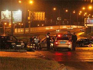 В аварии у Крюковской эстакады пострадал один человек