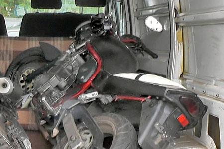 Вор на грузовике увез чужой мотоцикл из 18-го микрорайона