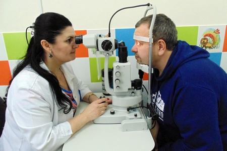 На прием к офтальмологу