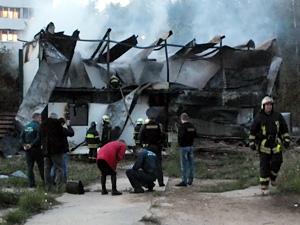 Сгоревшую стройку возьмут под охрану
