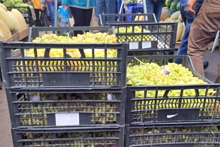 Полтонны турецкого винограда уничтожили на крюковском рынке