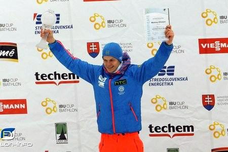 Биатлонист Елисеев выиграл малый хрустальный глобус Кубка IBU