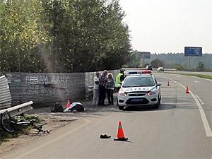 Полиция назвала возможную марку сбившей велосипедиста машины