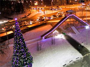 У ТК «Панфиловский» открылась самая большая в Зеленограде ледяная горка с двумя спусками