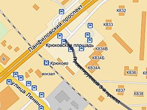Въезд в 8-й микрорайон с Крюковской площади закрыт