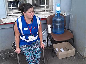 На станции Крюково начали бесплатно раздавать питьевую воду