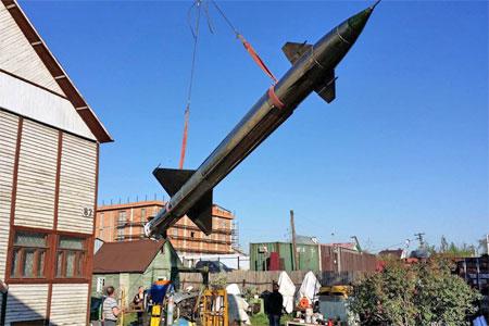 У Пятницкого шоссе в Юрлово установили настоящую ракету В-300