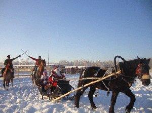 Новогодняя ночь с катанием на лошадях в КСК «Баллада»