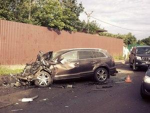 В крупной аварии в Брехово столкнулись несколько автомобилей