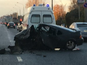 Сержант полиции устроил крупное ДТП на Ленинградском шоссе