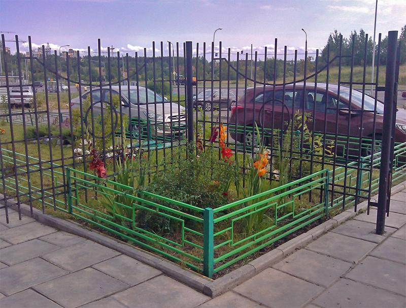 Ограда для палисадника своими руками 38