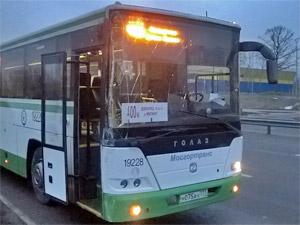 400-й автобус столкнулся со столбом у 20-го микрорайона