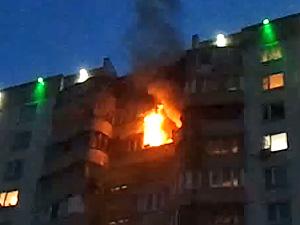 В 15-м микрорайоне сгорела квартира