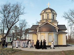 В Жилино освятили храм при госпитале для ветеранов войн