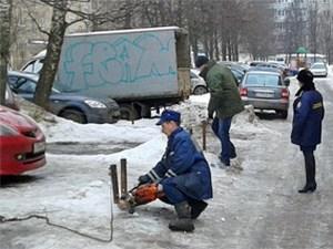 В Андреевке освободили самовольно захваченные парковки
