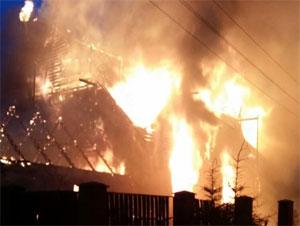 В Баранцево сгорел дачный дом