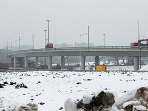 Разворотную эстакаду на Ленинградке у МЖК построят к осени
