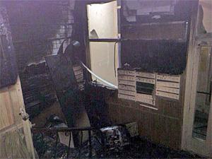 В корпусе 1505 сгорела будка консьержки