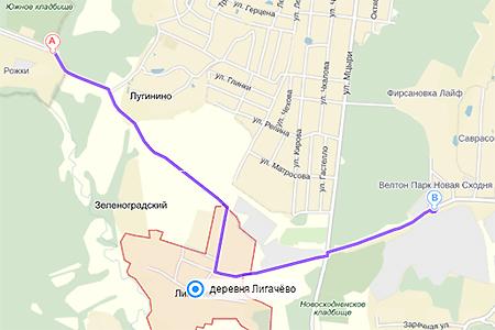 В 2016 году начнут строить дорогу из Зеленограда в Сходню через Лигачево