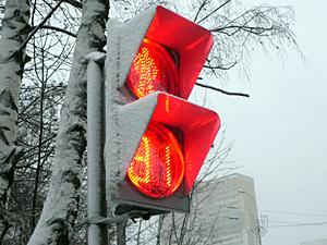 В Зеленограде появился первый светофор с таймером
