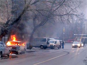 Автопожар на Крупской