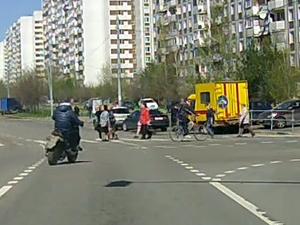 Скутер vs пешеход