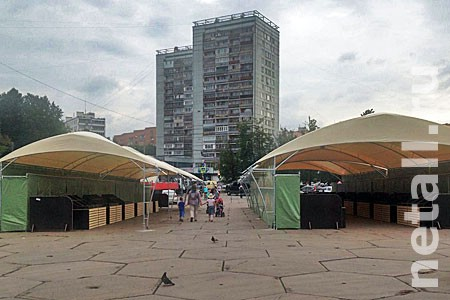 Новые шатры установили на всех зеленоградских ярмарках выходного дня