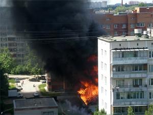 В Андреевке сгорел магазин «Магнит»