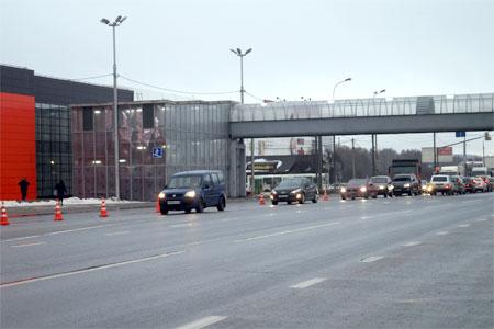 В Солнечногорске открылся надземный переход через Ленинградку