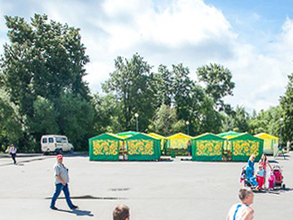 Продуктовую ярмарку на Центральной площади закроют из-за невостребованности