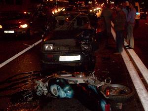 Мотоциклист сбил насмерть пешехода