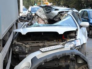 Водитель разбившегося Subaru находится в критическом состоянии