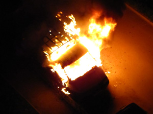 В «новом» городе и Андреевке за ночь сгорели три машины