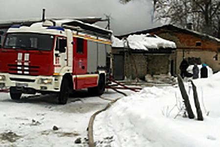 На птицефабрике в Ржавках произошел крупный пожар