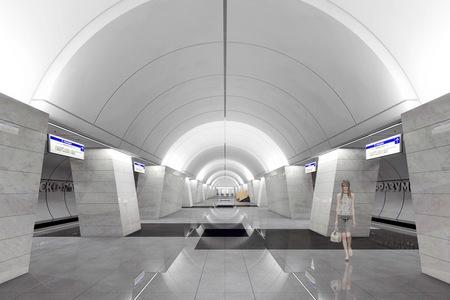 На станции метро «Петровско-Разумовская» поезда из центра начали прибывать на новую платформу