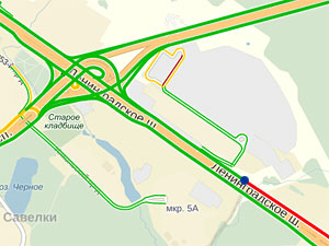 Ленинградку у МЖК сузили до одной полосы в каждую сторону