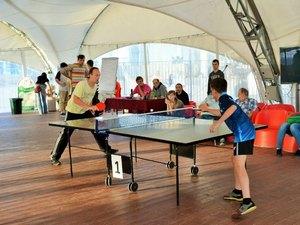 На Центральной площади пройдет серия бесплатных мастер-классов по настольному теннису