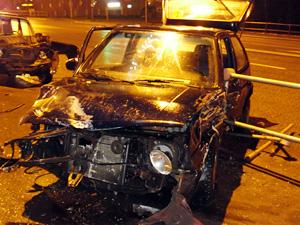 На Панфиловском проспекте разбились две машины