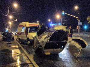 Водитель перевернувшегося такси был трезв