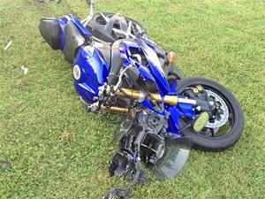 Нетрезвый мотоциклист разбился на Центральном проспекте