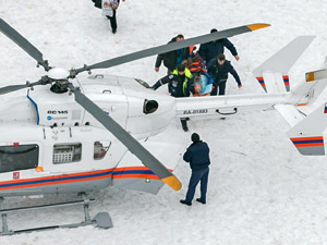 За пациенткой поликлиники прислали медицинский вертолет