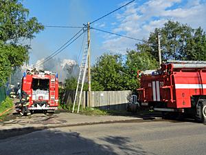 В Назарьево сгорел частный дом