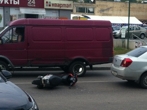 За два дня в авариях пострадали два скутериста