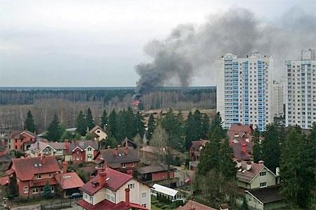 В Андреевке сгорел дачный дом