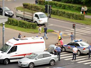 Иномарка сбила пешехода на Центральном проспекте