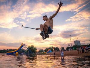 На пруду Ангстрем устроят прыжки в воду на роликах