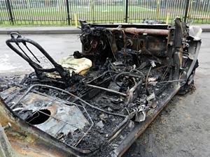 Сгоревший автомобилист умер от отравления угарным газом