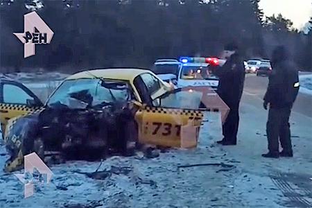 Водитель «Зеленоградского такси» погиб в столкновении с автобусом в Андреевке